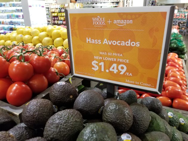 amazon cut the price of avocados by 50 percent at the whole foods market in south lake union geekwire photo taylor soper