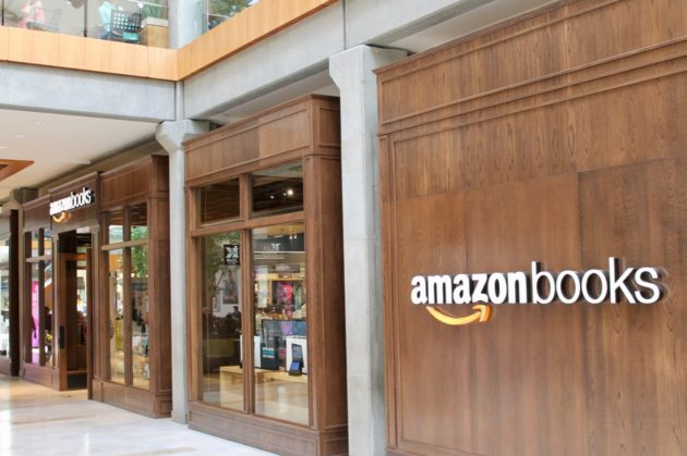 The New Amazon Books Store In The Bellevue Square Mall. (GeekWire Photo /  Nat Levy)