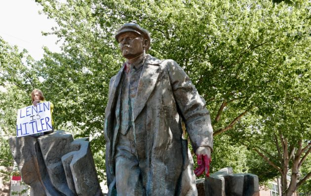 Lenin protest