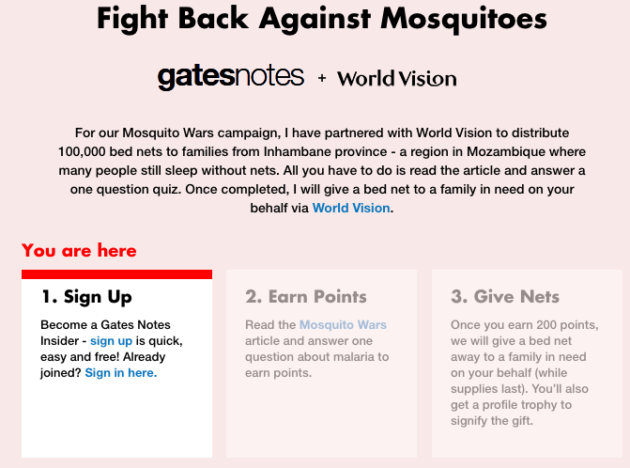 Bill Gates mosquito fight