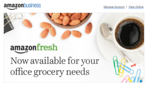 AmazonFresh grocery delivery service now caters to businesses