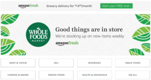 Amazon brings convenience to grocery shopping