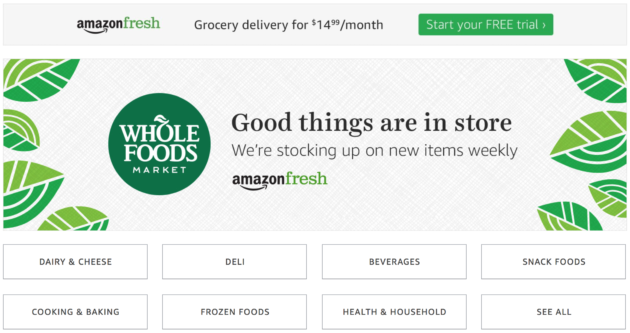 Image result for amazon fresh and whole foods