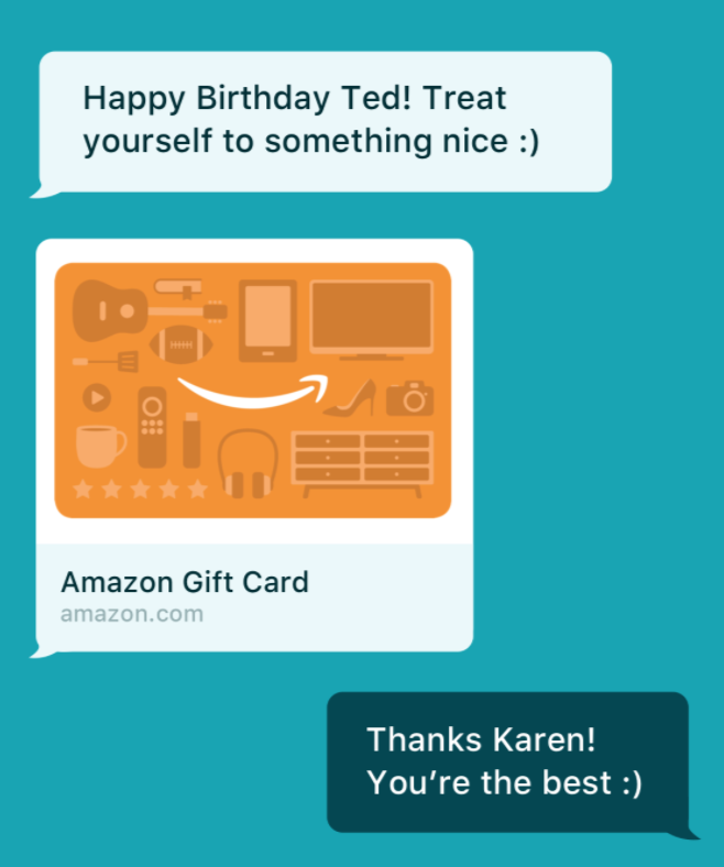 You Can Now Send Amazon Gift Cards Via Text Message Or Messaging Apps Like WhatsApp Snapchat GeekWire
