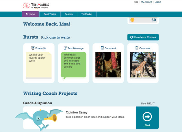Amazon's TenMarks education unit expands beyond math with new