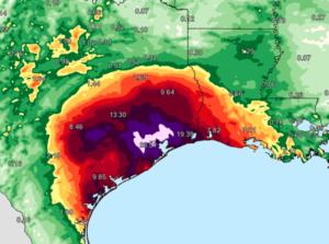 Harvey rain Texas