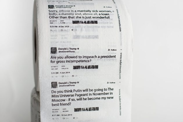 Trump Tweets toilet paper