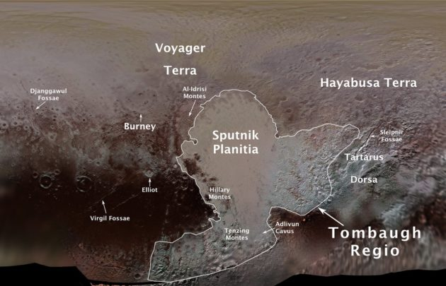 Pluto place names
