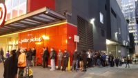 Ninety shoppers were waiting outside to buy the SNES Classic Edition at the Target in downtown Seattle, Wash., at 6:50 this morning. (Photo by Tim Ellis)