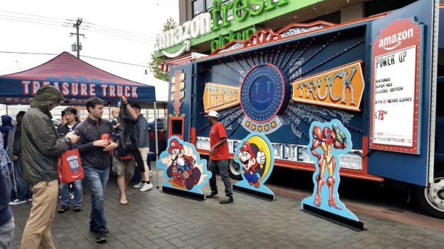 Super NES Classic pickup at the Amazon Treasure Truck in Seattle's SoDo neighborhood