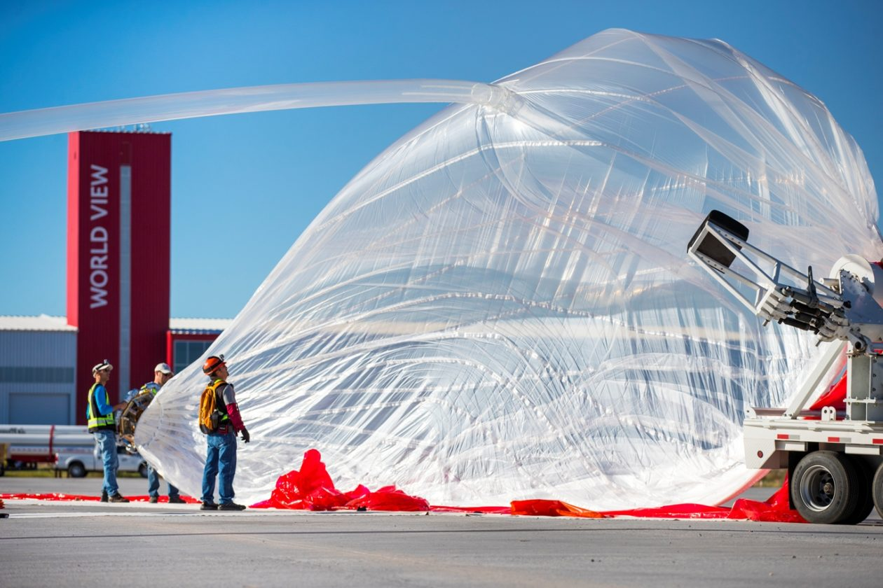 world view launches balloon from spaceport tucson for