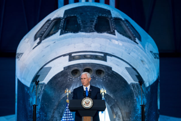 Vice President Mike Pence at National Space Council meeting