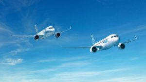 Bombardier and Airbus jets