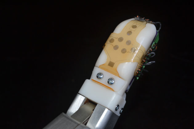 Robo-skin on finger