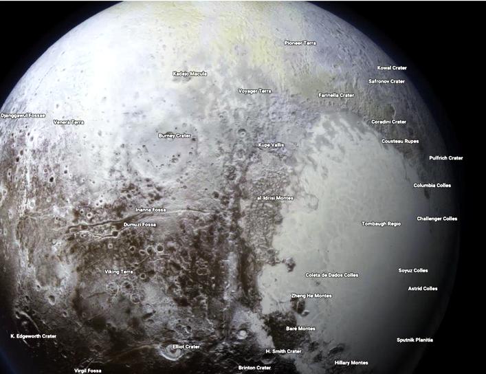 Pluto in Google Maps