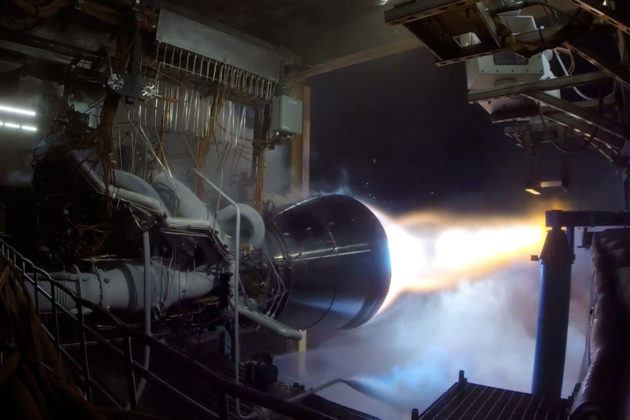 Blue Origin BE-4 test firing