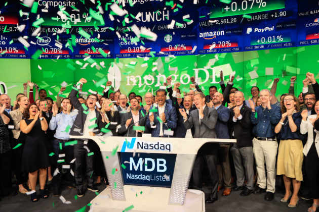 Wall Street likes databases, as MongoDB soars over 30 percent in its IPO
