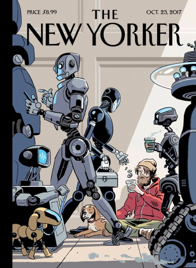 Spot-on or too scary? This New Yorker magazine cover could be a nod to futuristic Seattle