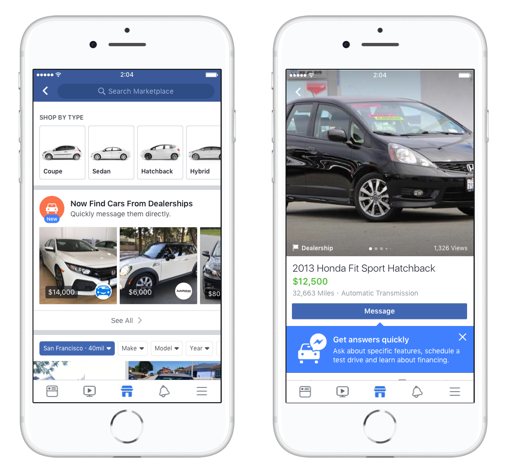 Marketplace doubles down on used car sales as it battles OfferUp and ...