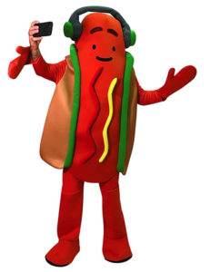 Snap hot dog costume