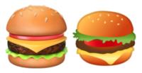 Hamburger emojis