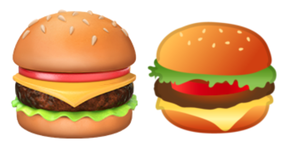 Google Gets Grilled Burger Emoji  panys Big Cheese Weighs Meaty Matter on animated ham