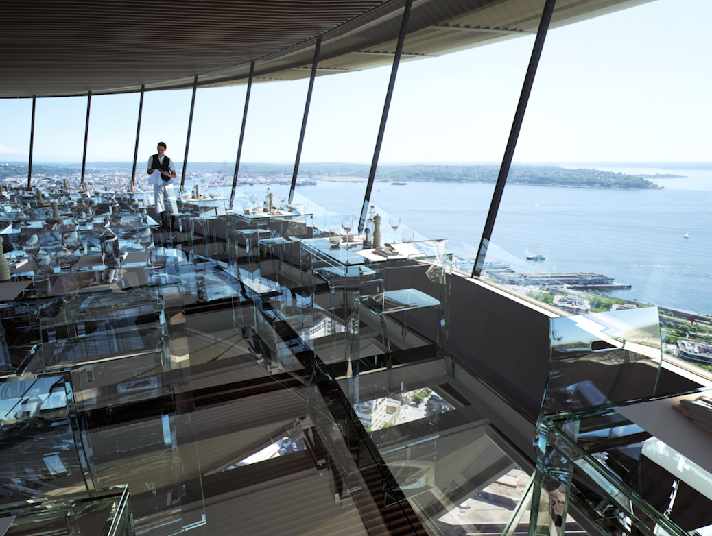 New images show design for Space Needle's glass restaurant ...