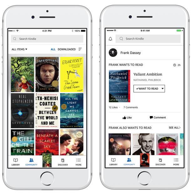 Amazon overhauls Kindle app with new look and deep Goodreads social