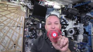 Fidget spinner in space