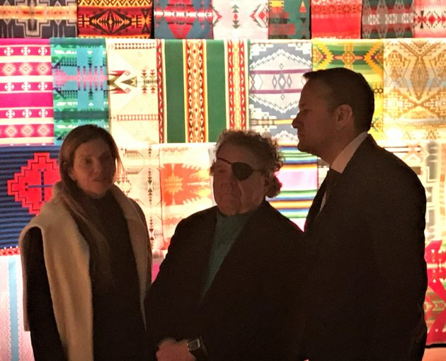 Irish prime minister with Dale Chihuly and wife