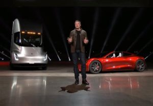 Elon Musk, Semi and Roadster