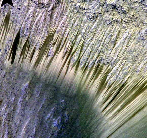 Streaks on Mars sign of flowing sand, not water
