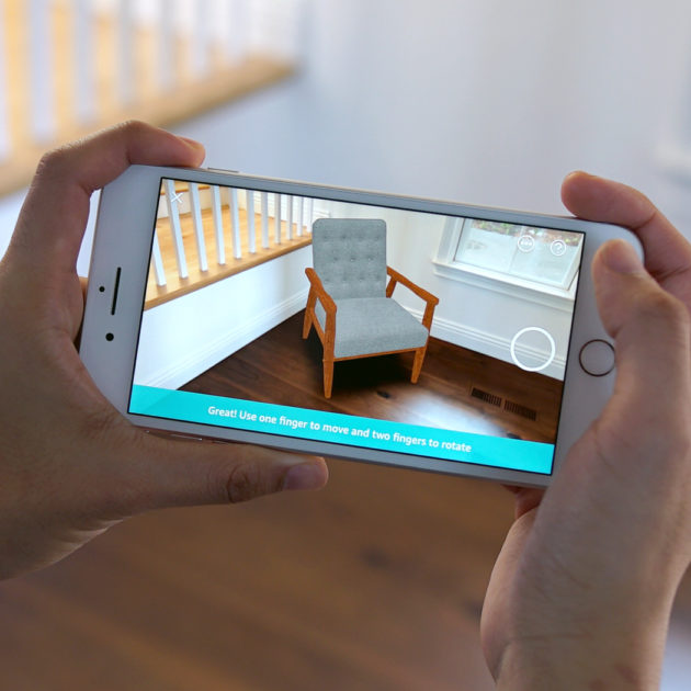 amazon launches augmented reality iphone feature to see virtual products in real world before. Black Bedroom Furniture Sets. Home Design Ideas