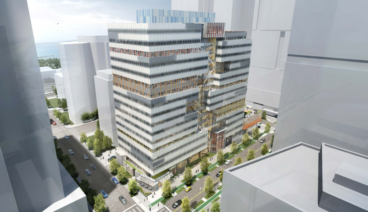 office building design. New Images Of Amazon\u0027s \u201curban Treehouse\u201d Office Tower In Seattle. (Graphite Design Group Rendering) Building