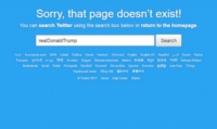 No Trump on Twitter