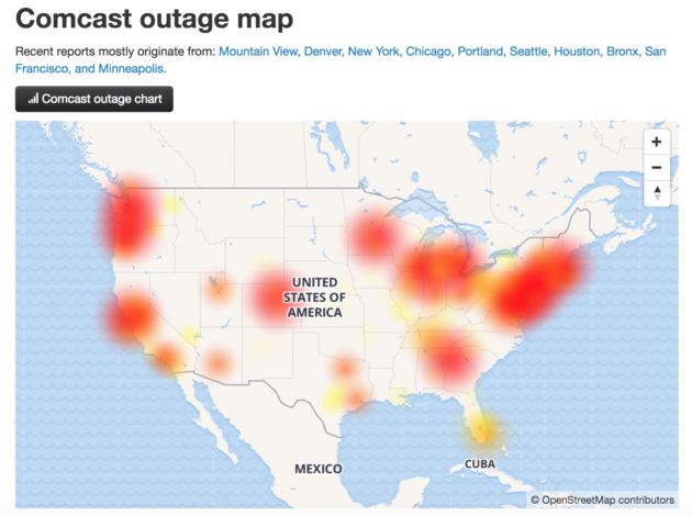 Internet issues plague users across the U S  on Monday morning