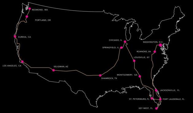 Kalo Trek map