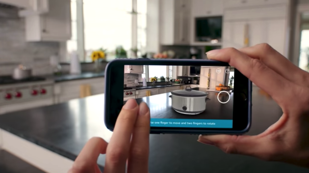Amazon's app now lets you place items inside your home using AR