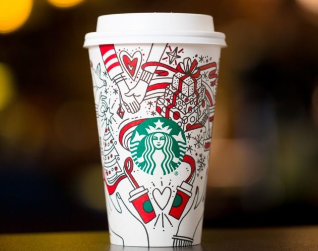 Starbucks Christmas Cups 2019.Peace On Earth The New Starbucks Holiday Cup Could Put An