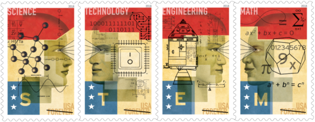 Save up your pennies for next year's science stamps, celebrating STEM and astronaut Sally Ride