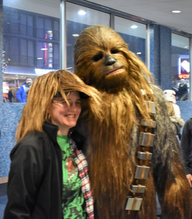Chewbacca and fan