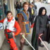 Costumed Star Wars characters