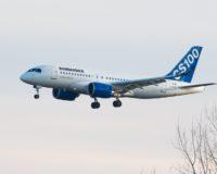 Bombardier CS100 jet