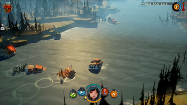 "Some unknown calamity has befallen the world in ""The Flame in the Flood,"" leading to random houses and cars floating down the river with you."