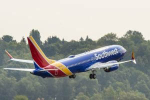 Southwest Airlines 737 jet