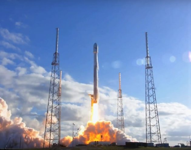 Replay of the launch of GovSat 1 aboard a Falcon 9 rocket