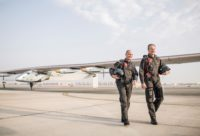 Solar Impulse 2 and pilots
