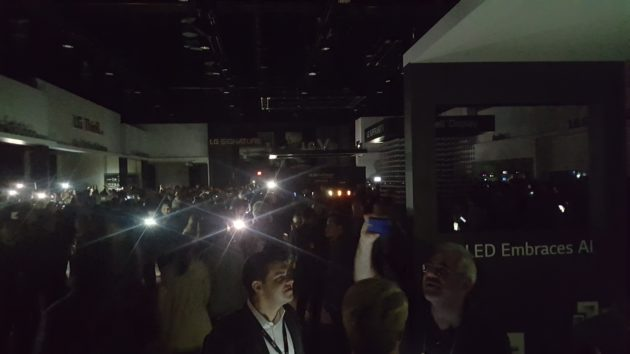 LG's exhibit in the dark at CES