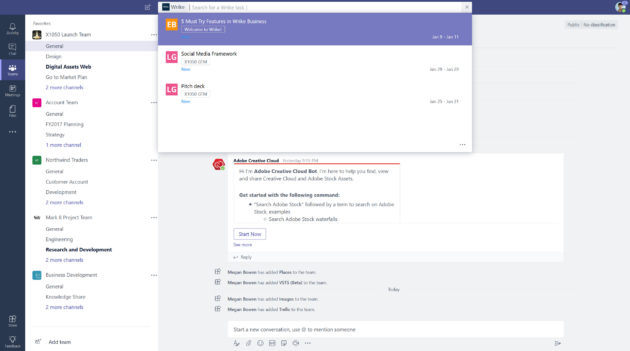 Microsoft Teams updated with new app gallery, improved search and command shortcuts