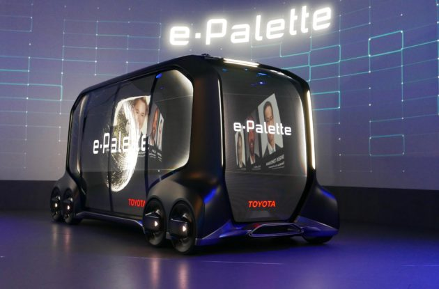 Toyota reveals self-driving delivery pod